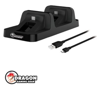 תחנת טעינה Dragon Gaming Gear Dual Charging Dock לשני בקרי PS4