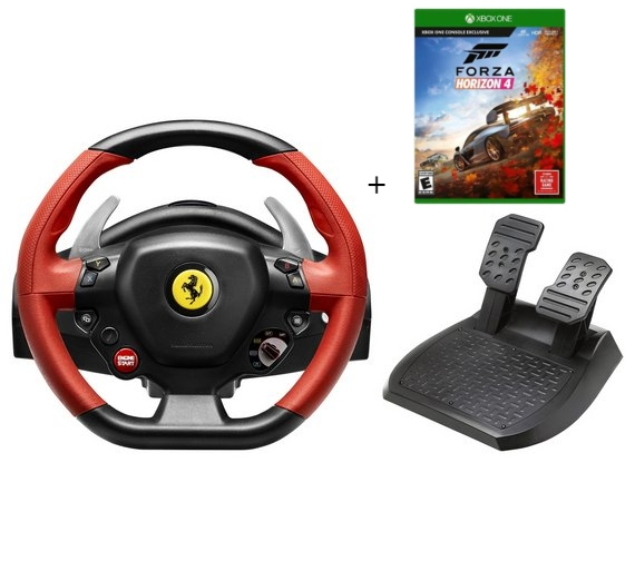 הגה מרוצים Ferrari 458 Spider + Forza Horizon 4