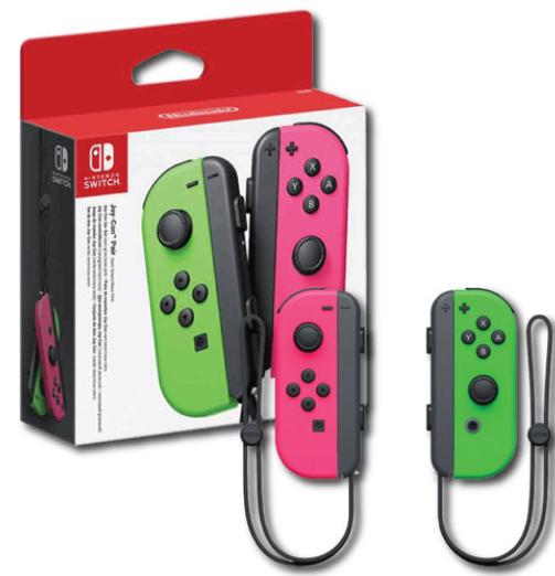 Nintendo Switch JoyCons Green/Pink יבואן רשמי נינטנדו