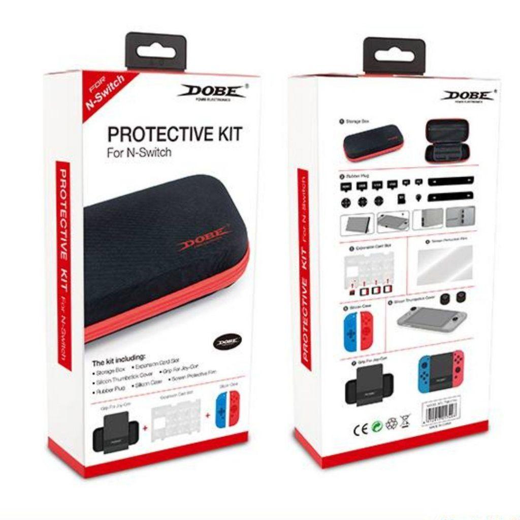 Nintendo Switch 7 piece Protective Accessory Kit Dobe - ערכת אביזרים מושלמת