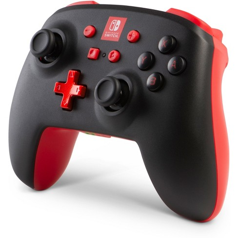 PowerA Enhanced Wireless Controller for Nintendo Switch - Black/Red יבואן רשמי