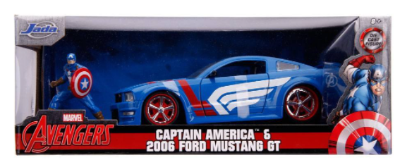 Jada Toys USA   Captain America & 2006 Ford Mustang GT