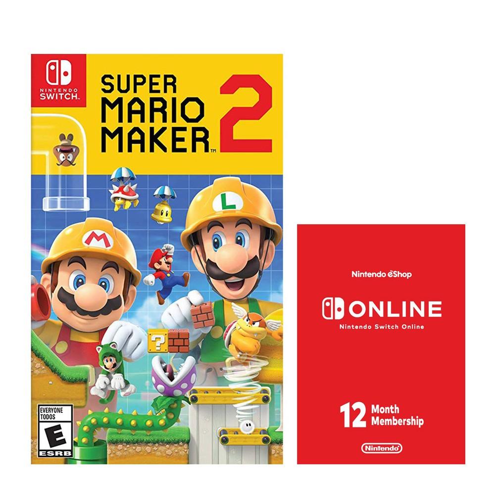 Super Mario Maker 2 + מנוי אונליין לשנה