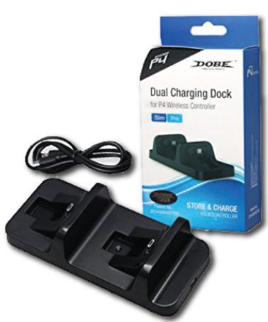 מטען זוגי לשלטי סוני 4 PS4 Charging dock Dobe
