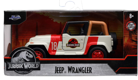Jada Toys Jurassic World 1:32 Jeep Wrangler Die-cast Car, Toys for Kids and Adults