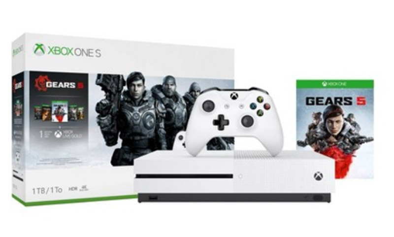 Microsoft Xbox One S 1TB עם סדרת משחקים Gears Of War 5/3/2 + Gears Of War Ultimate יבואן רשמי