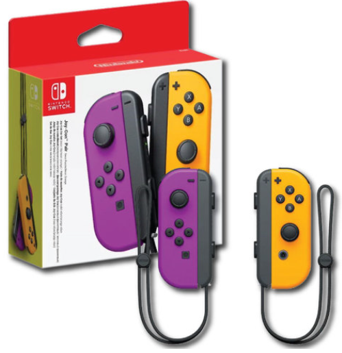 Nintendo Switch JoyCons Purple/Orange יבואן רשמי נינטנדו
