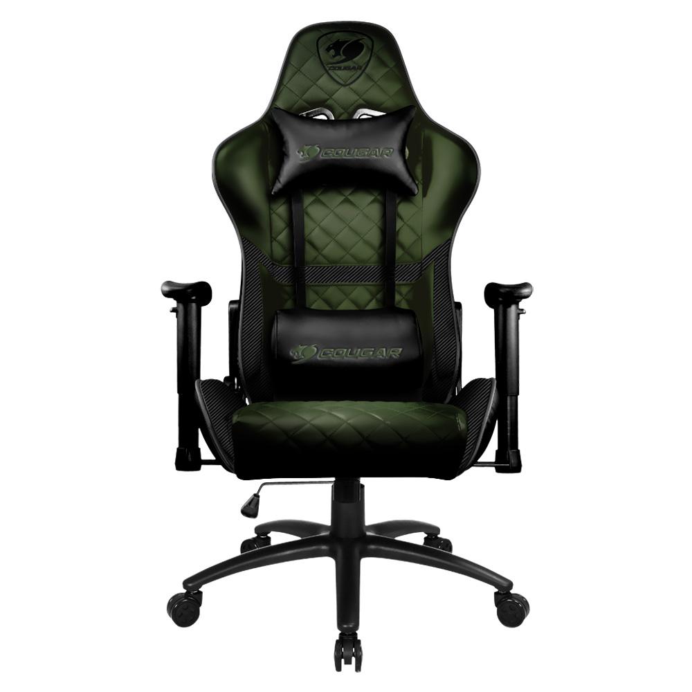 כיסא גיימינג Cougar Armor One Black שחור ירוק