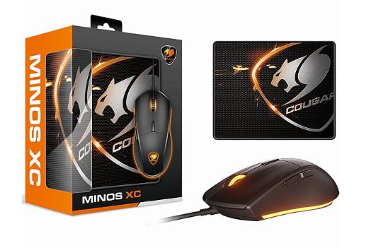 סט פד ועכבר COUGAR Mouse Minos XC + PAD