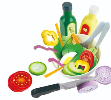 משחק דמיון באוכל - סלט ירקות הגינה HAPE