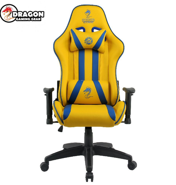 כיסא גיימינג - Dragon Olympus Gaming Chair בצבעי מכבי תל אביב