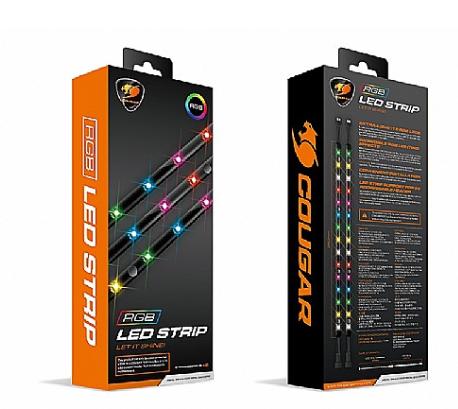 פס לדים איכותי חברת Cougar דגם Cougar Led Strip RGB צבע צבעוני RGB 5V 1.5W 15 LED LIGHTS