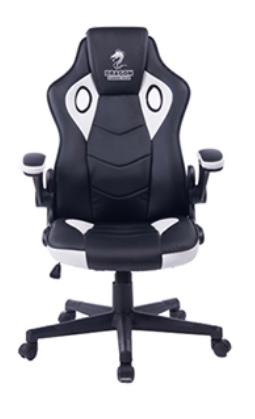 מושב גיימרים Dragon Combat XL Chair לבן/שחור