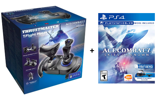 THRUSTMASTER T-FLIGHT HOTAS 4 + Ace Combat 7 PS4 Bundle