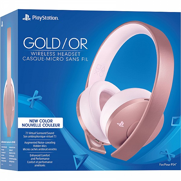 PS4 - New GOLD Wireless Stereo Headset Rose Gold
