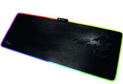 משטח מקצועי לעכבר+תאורת לד DRAGON GAMING LED MOUSE PAD SIZE XL