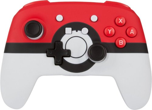 PowerA – Enhanced Poké Ball Edition Wireless Controller for Nintendo Switch – White/Red/Black