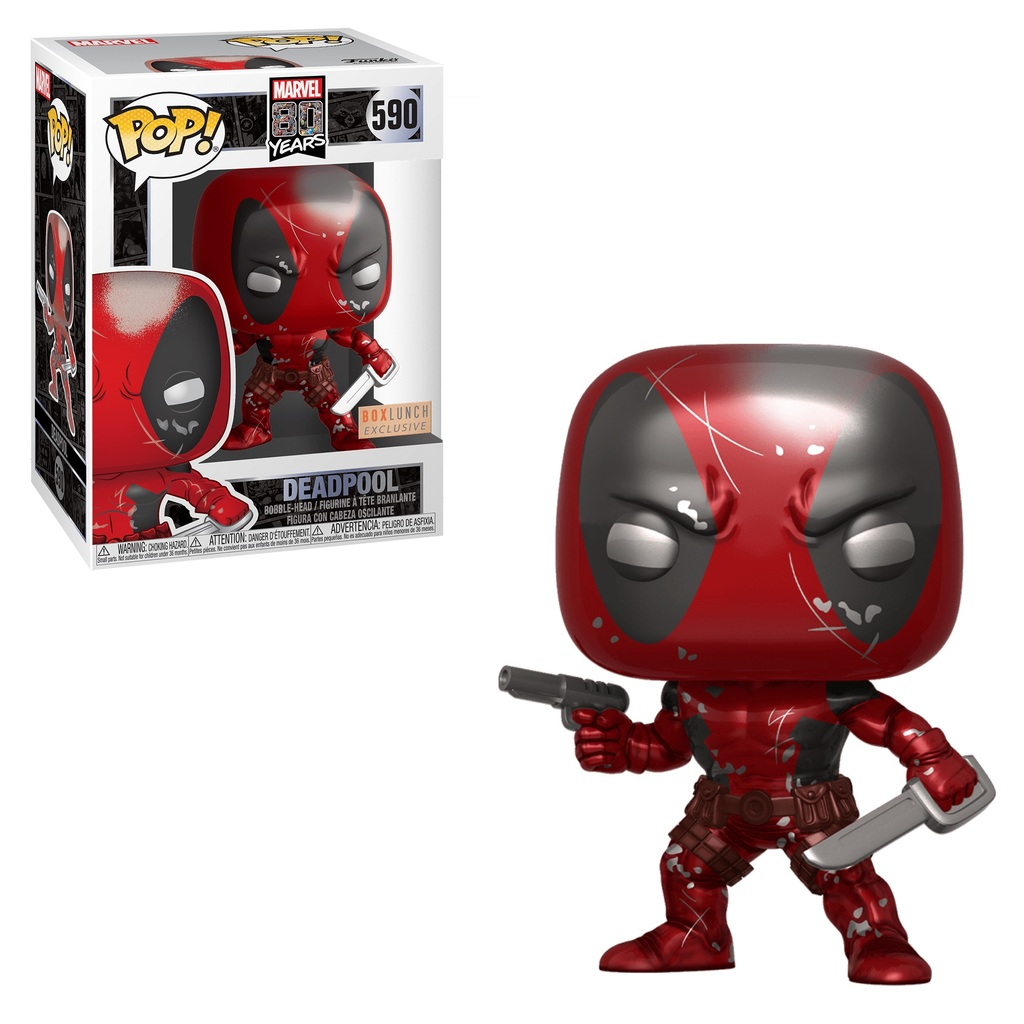 Funko POP! Marvel 80th: First Appearance Deadpool Damaged  #590 Exclusive