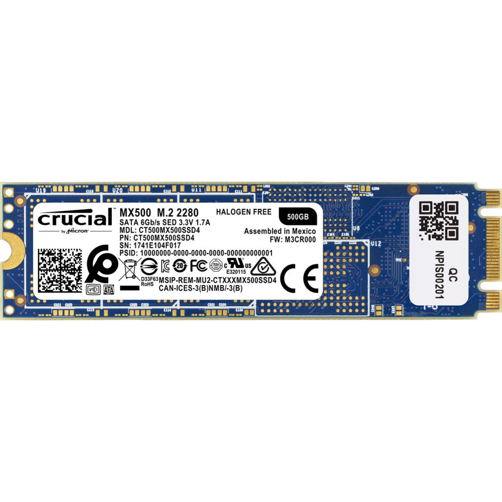 דיסק CRUCIAL MX500 SSD 500GB M2 2280 CT500MX500SSD4