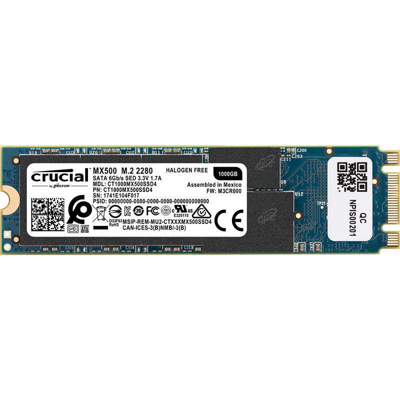 דיסק CRUCIAL MX500 1TB M2 2280 CT1000MX500SSD4