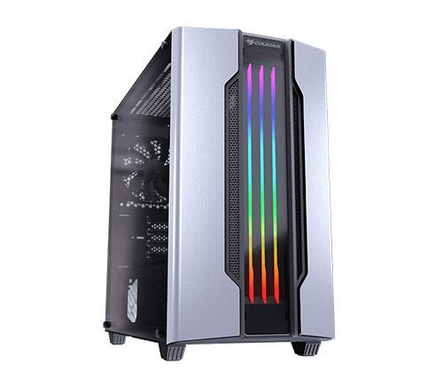 מארז מחשב Cougar GEMINI M בצבע כסוף כולל חלון צד