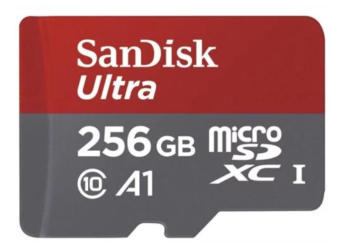 כרטיס זיכרון microSDHC בנפח 250GB Ultra Android בתקן 10Class דגם SDSQUAR-256G-GN6MA כולל מתאם SDXC ואחריות ל-10 שנים מבית SanDisk