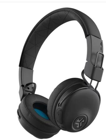 אוזניות קשת On-Ear אלחוטיות JLab Studio Bluetooth - צבע אפור/כחול