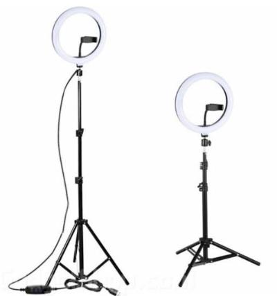 """רינג תאורת לד מקצועית לשיפור איכות התמונות כולל חצובה 30 ס""""מ"""