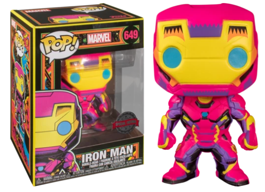 Funko Pop! Marvel: Black Light - Iron Man #649