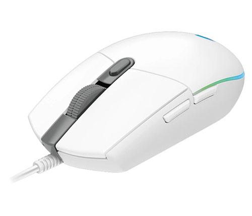 עכבר גיימינג Logitech G102 Lightsync בצבע לבן