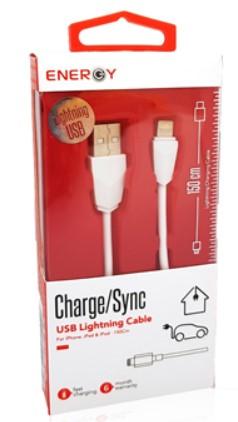כבל טעינה לאייפון ENERGY Lightning USB
