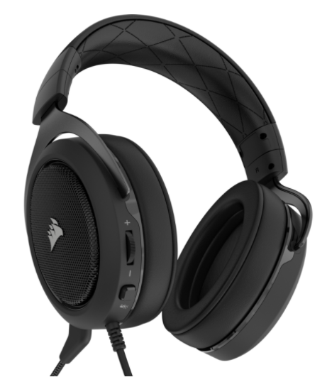 אוזניות לגיימרים Corsair HS50 Stereo Gaming Headset - Carbon