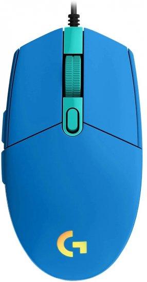 עכבר גיימרים חוטי Logitech G102 Lightsync - כחול