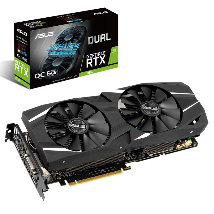 כרטיס מסך ASUS Dual GeForce RTX™ 2060 OC edition 6GB GDDR6