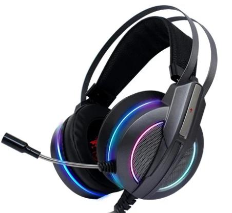 אוזניות גיימינג עם מיקרופון Dragon Galaxy RGB בצבע שחור
