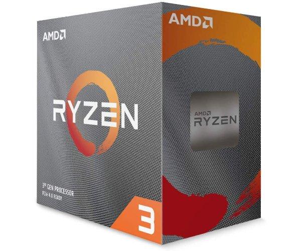 מעבד AMD R3 3100 AM4 BOX 3.6Ghz 4Crs 8Thrd TDP 65W with Fan