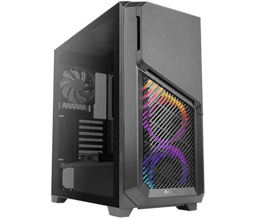 מארז מחשב Antec DP502 Flux בצבע שחור כולל חלון צד