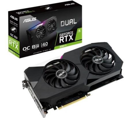 כרטיס מסך ASUS Dual GeForce RTX™ 3060 Ti OC Edition 8GB GDDR6