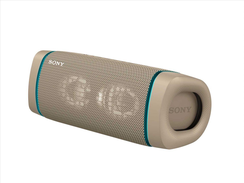 רמקול Bluetooth נייד Sony SRS-XB33B IP67 EXTRA BASS - צבע בז'