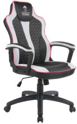 כיסא גיימינג DRAGON SNIPER LED RGB שחור לבן