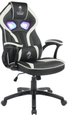 כיסא גיימינג DRAGON ULTRA EYE RGB שחור לבן