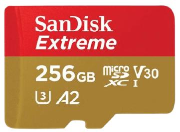 כרטיס זיכרון SanDisk Extreme microSD card 256GB