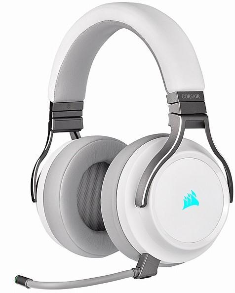 אוזניות גיימינג אלחוטיות מדגם VIRTUOSO RGB –CORSAIR בצבע לבן פנינה