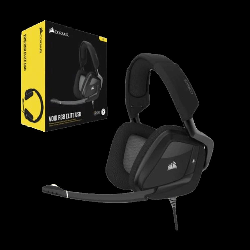 אוזניות חוטיות Corsair Void Rgb Elite USB Premium Gaming Headset קורסייר