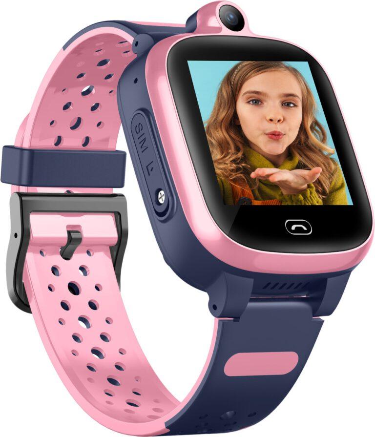 שעון GPS לילדים KidiWatchוידאו ורוד