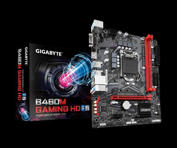לוח לאינטל דור 10 Gigabyte B460M GAMING HD VGA HDMI M-Atx LGA1200