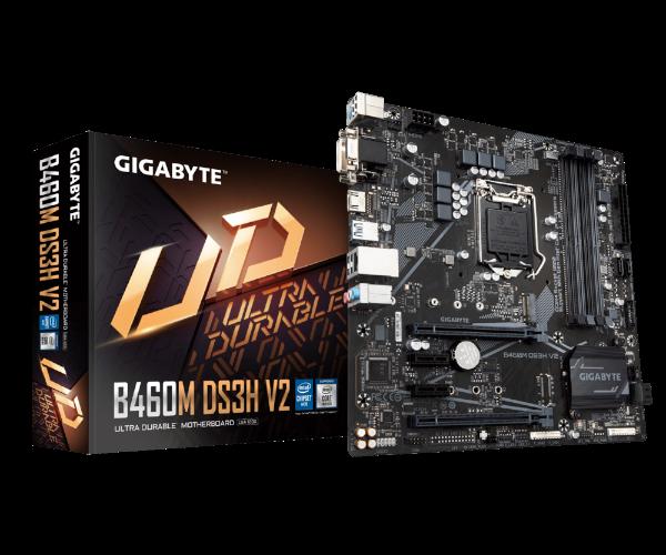 לוח אם Gigabyte B460M DS3H V2 Micro ATX RGB led Strips Support