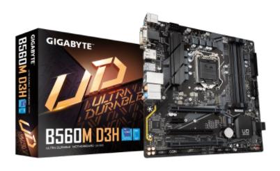 לוח אם אינטל דור 10/11 GIGABYTE B560M D3H LGA1200 RGB