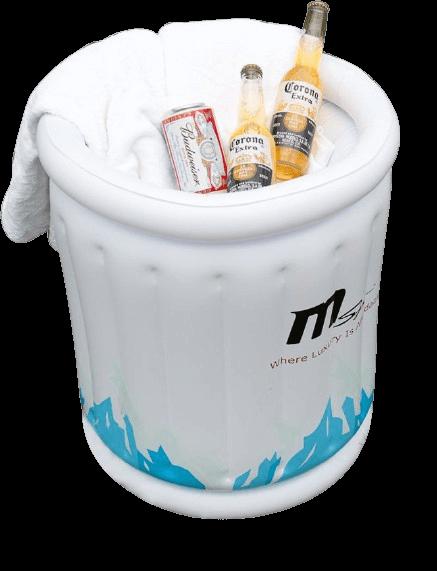דלי לקרח עם כיסוי מתנפח MSPA