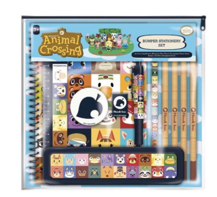 ערכת כלי כתיבה – Animal Crossing (Villager Squares)